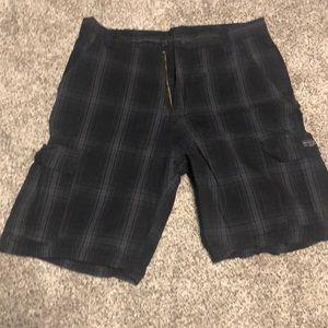 Other - Black plaid shorts